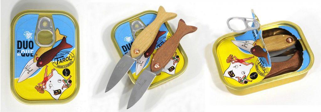 Couteaux Farol dans une boite de conserve