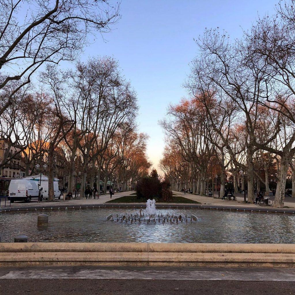 Esplanade Charles de Gaulle à Montpellier