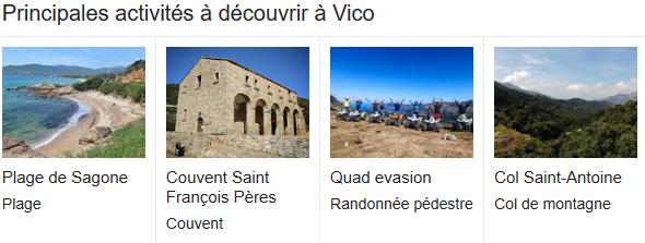 Que faire a Vico en Corse
