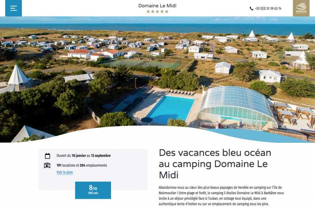 Camping domaine le midi Noirmoutiers